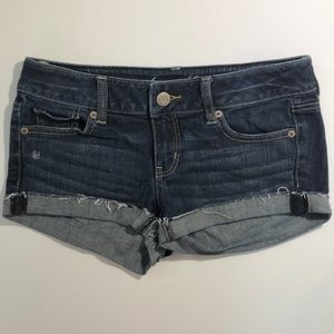 American Eagle jeans stretch shorts with glitter